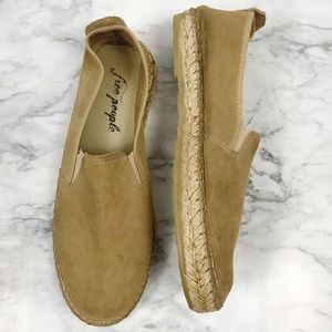 FREE PEOPLE Suede Espadrilles Size 7 GUC